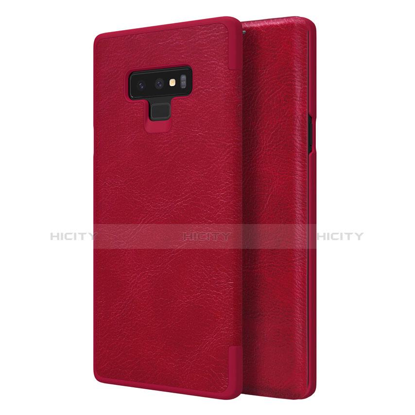 Cover Portafoglio In Pelle con Supporto per Samsung Galaxy Note 9 Rosso