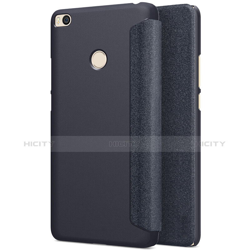 Cover Portafoglio In Pelle con Supporto per Xiaomi Mi Max 2 Nero