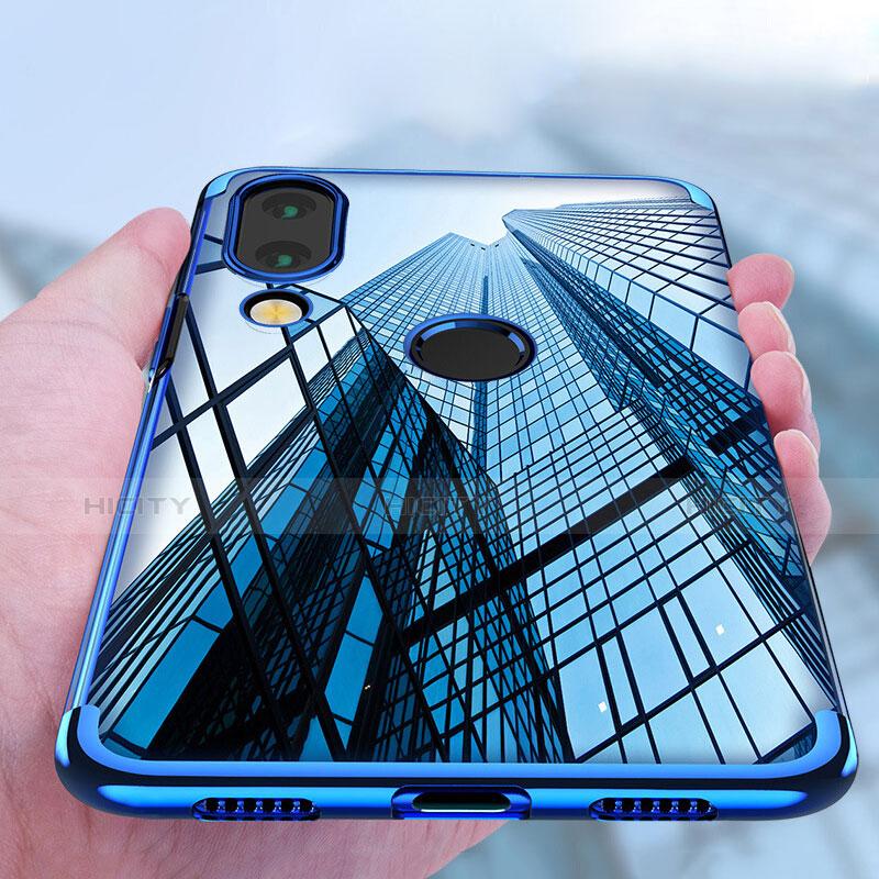 Cover Silicone Trasparente Ultra Sottile Morbida T03 per Huawei P20 Lite Blu