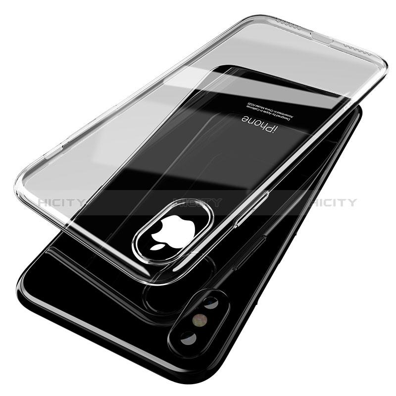 Cover Silicone Trasparente Ultra Sottile Morbida T14 per Apple iPhone Xs Max Chiaro