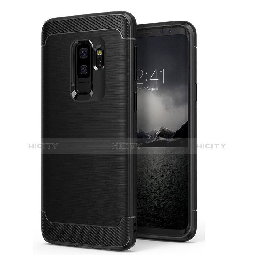 Cover Silicone Ultra Sottile Morbida Opaca per Samsung Galaxy S9 Plus Nero