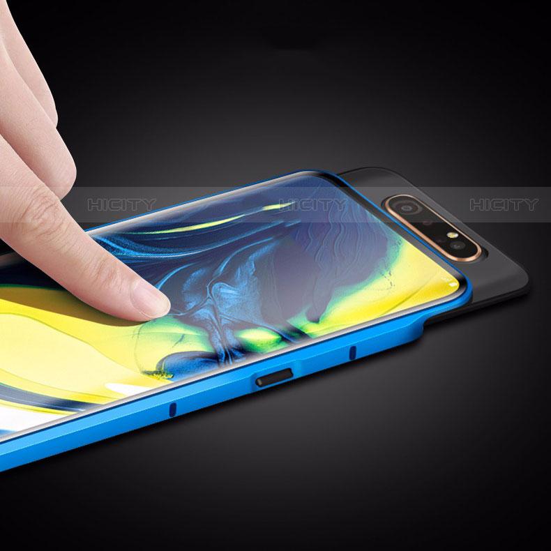 Custodia Lusso Alluminio Laterale Specchio 360 Gradi Cover M01 per Samsung Galaxy A80