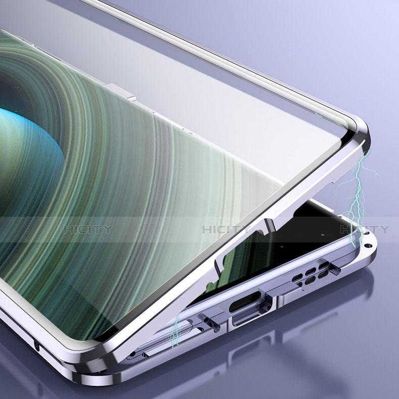 Custodia Lusso Alluminio Laterale Specchio 360 Gradi Cover M01 per Xiaomi Mi 10 Ultra