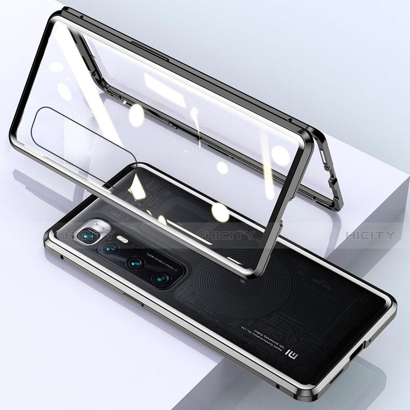 Custodia Lusso Alluminio Laterale Specchio 360 Gradi Cover M01 per Xiaomi Mi 10 Ultra Nero