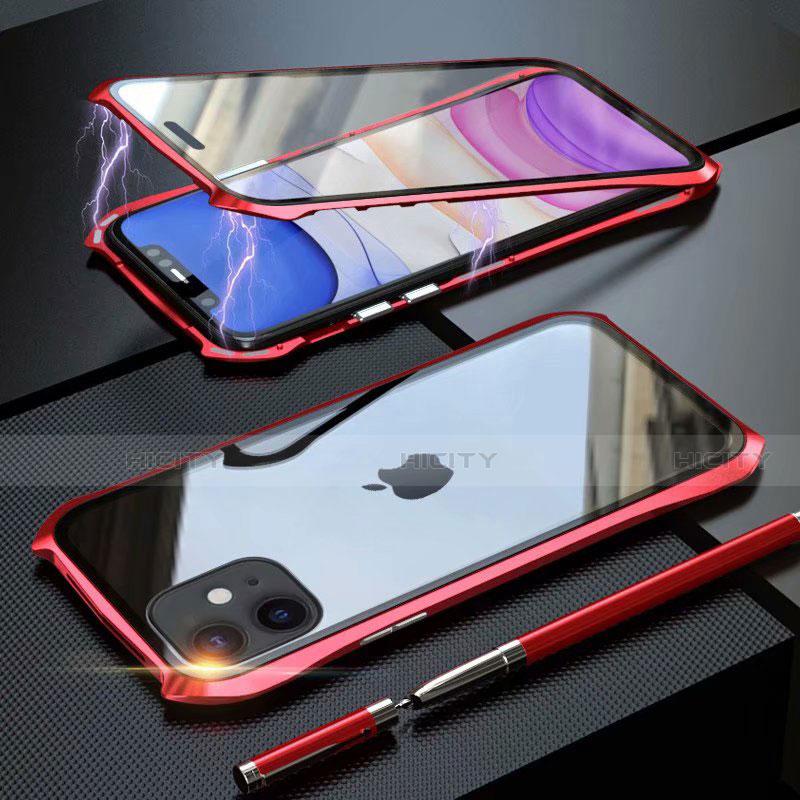 Custodia Lusso Alluminio Laterale Specchio 360 Gradi Cover M06 per Apple iPhone 11