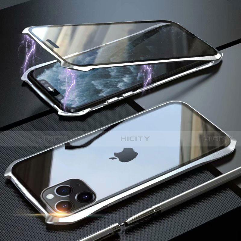 Custodia Lusso Alluminio Laterale Specchio 360 Gradi Cover M10 per Apple iPhone 11 Pro Max