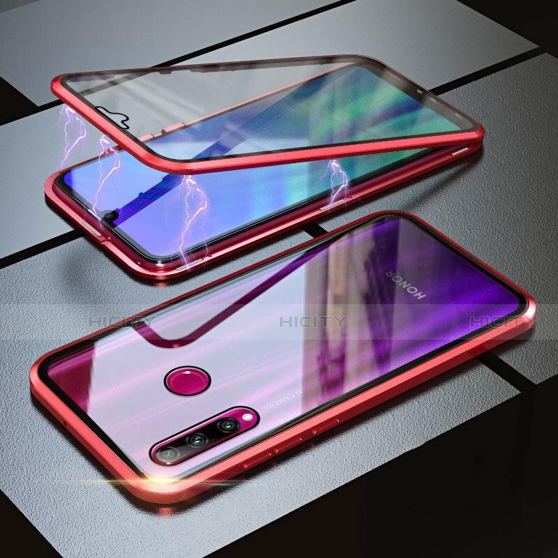 Custodia Lusso Alluminio Laterale Specchio 360 Gradi Cover per Huawei Honor 20 Lite Rosso