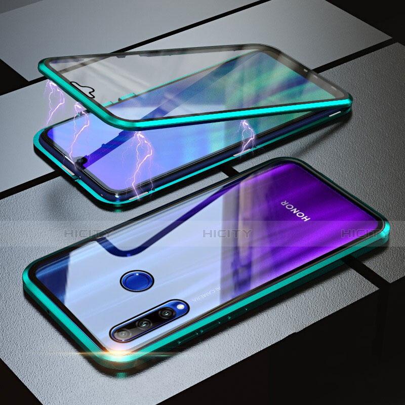 Custodia Lusso Alluminio Laterale Specchio 360 Gradi Cover per Huawei Honor 20 Lite Verde