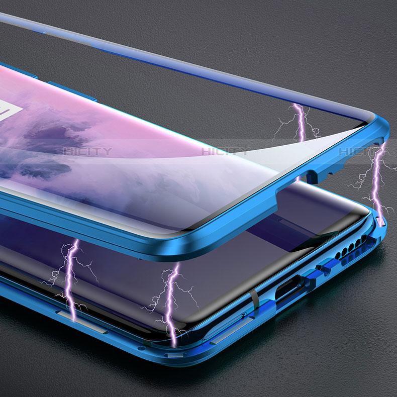 Custodia Lusso Alluminio Laterale Specchio Cover per OnePlus 7 Pro