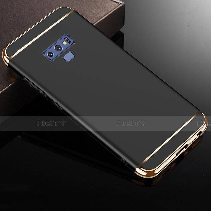 Custodia Lusso Metallo Laterale e Plastica Cover M01 per Samsung Galaxy Note 9 Nero