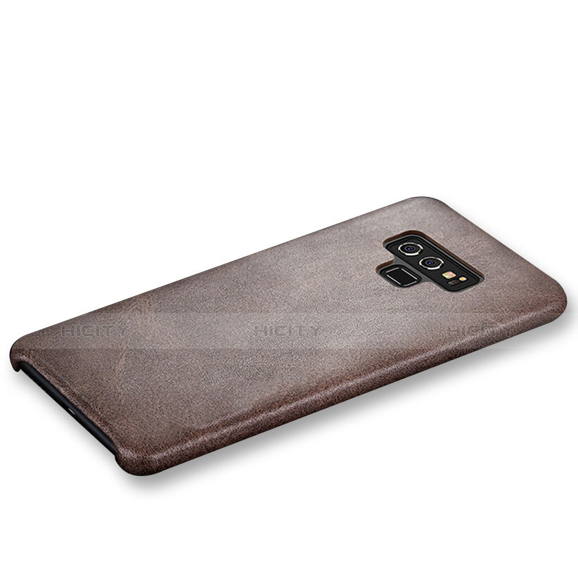 Custodia Lusso Pelle Cover L01 per Samsung Galaxy Note 9 Marrone