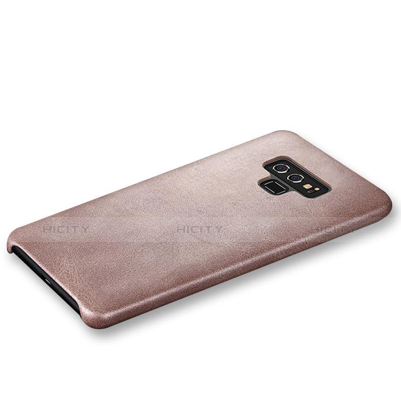 Custodia Lusso Pelle Cover L01 per Samsung Galaxy Note 9 Oro Rosa