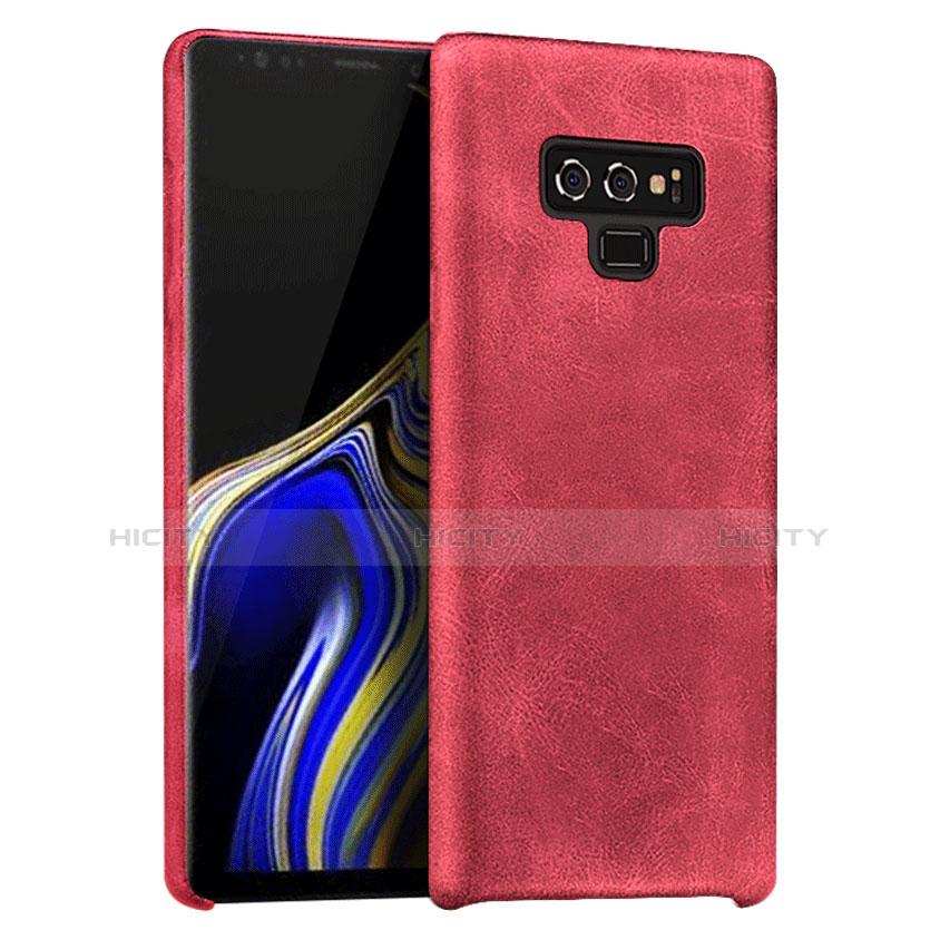 Custodia Lusso Pelle Cover L01 per Samsung Galaxy Note 9 Rosso
