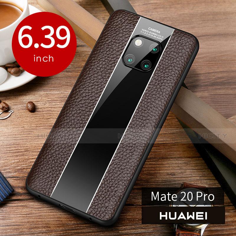Custodia Lusso Pelle Cover S01 per Huawei Mate 20 Pro Marrone