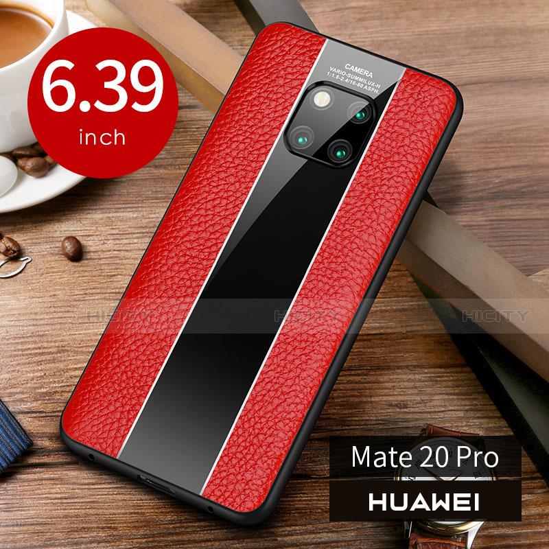 Custodia Lusso Pelle Cover S01 per Huawei Mate 20 Pro Rosso