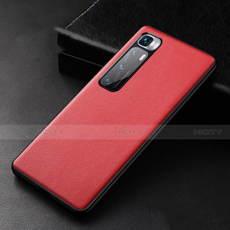 Custodia Lusso Pelle Cover S01 per Xiaomi Mi 10 Ultra Rosso