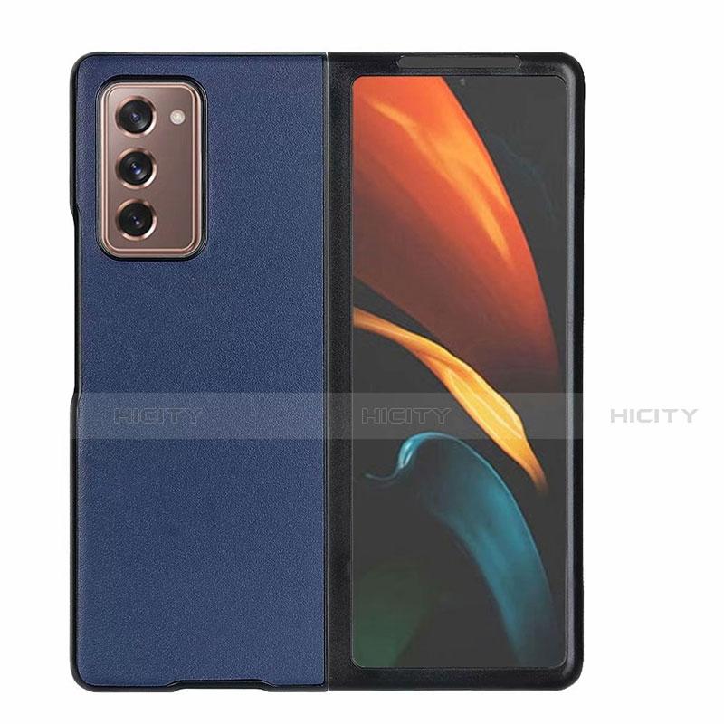 Custodia Lusso Pelle Cover S03 per Samsung Galaxy Z Fold2 5G Blu