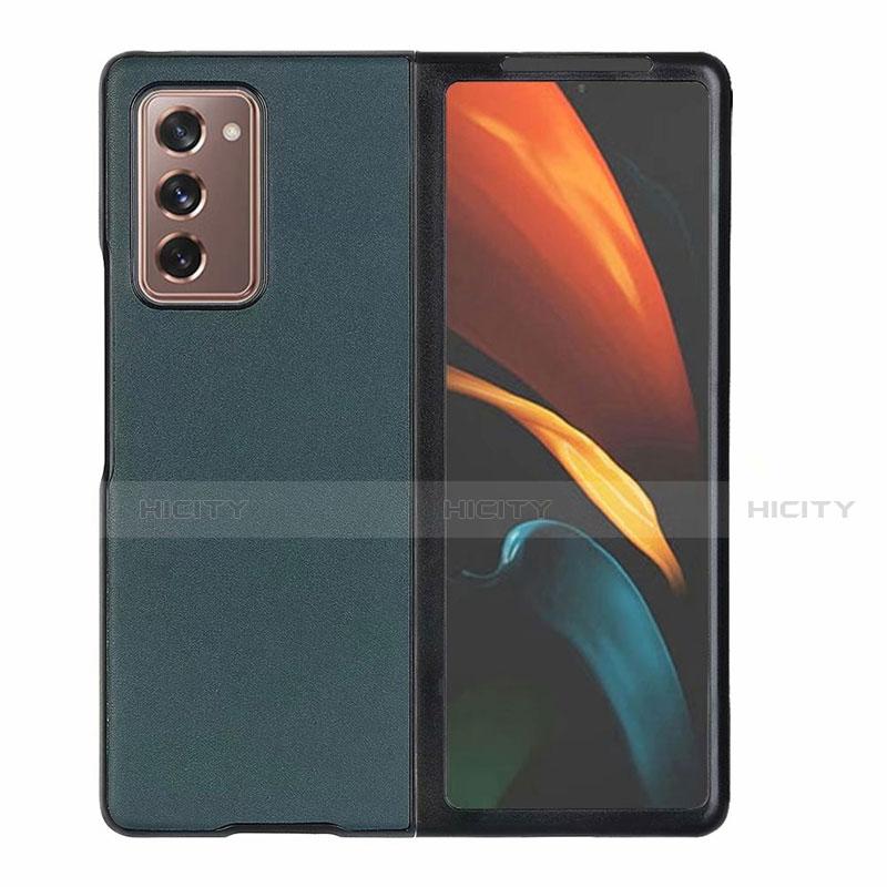 Custodia Lusso Pelle Cover S03 per Samsung Galaxy Z Fold2 5G Verde