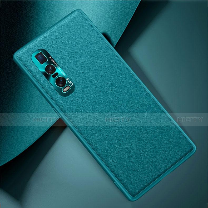 Custodia Lusso Pelle Cover U01 per Oppo Find X2 Pro