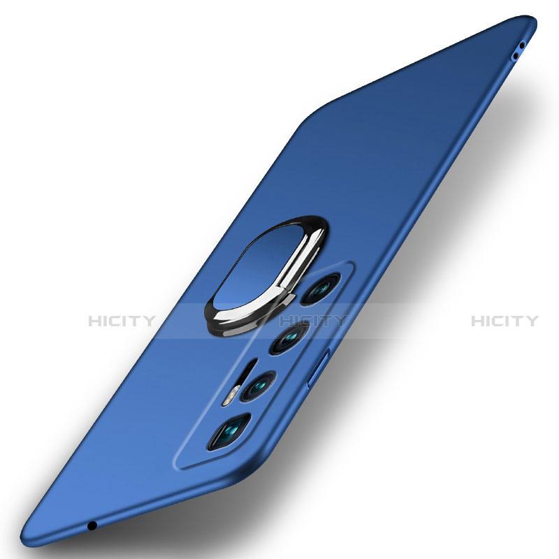 Custodia Plastica Rigida Cover Opaca con Magnetico Anello Supporto A01 per Xiaomi Mi 10 Ultra