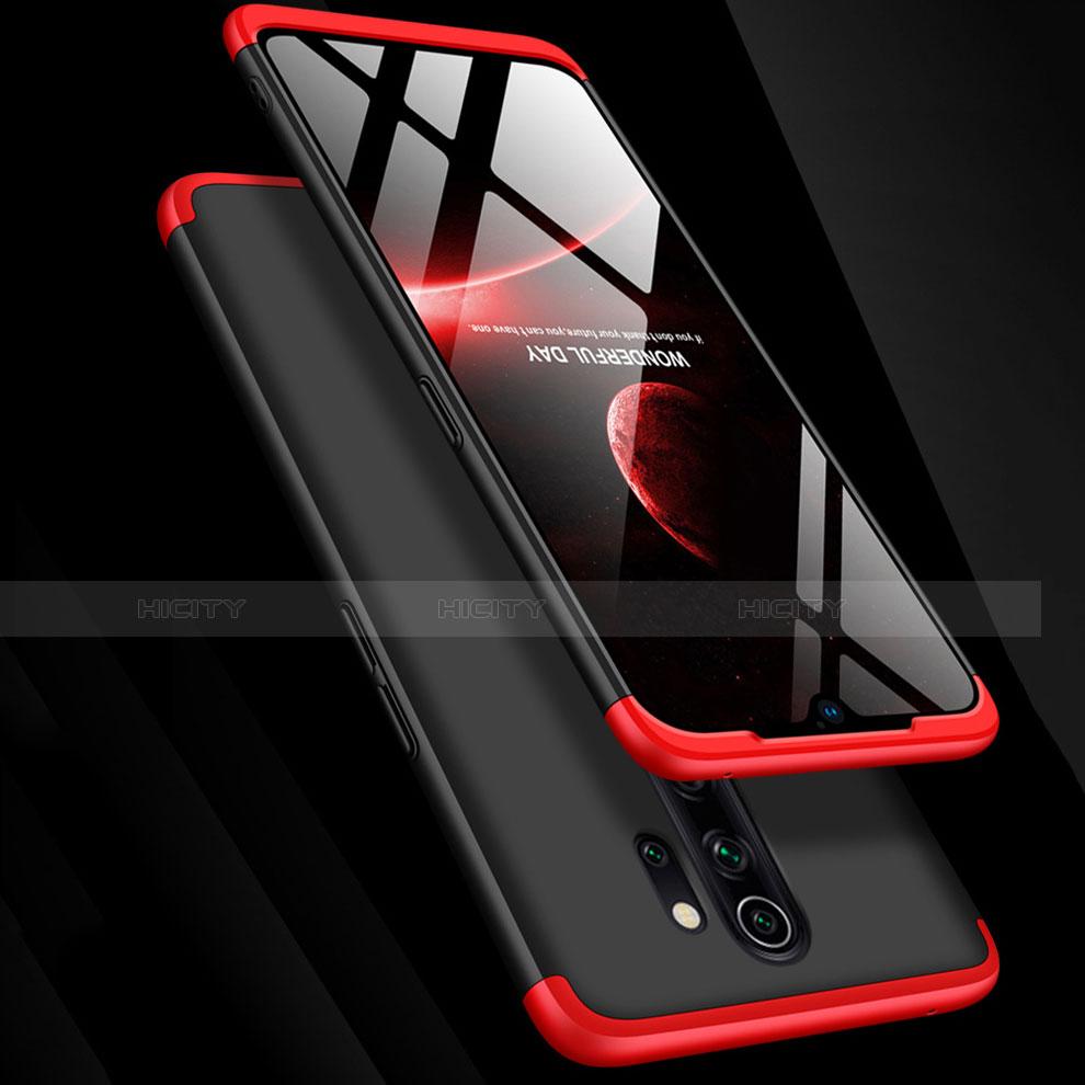 Custodia Plastica Rigida Cover Opaca Fronte e Retro 360 Gradi con Anello Supporto per Xiaomi Redmi Note 8 Pro