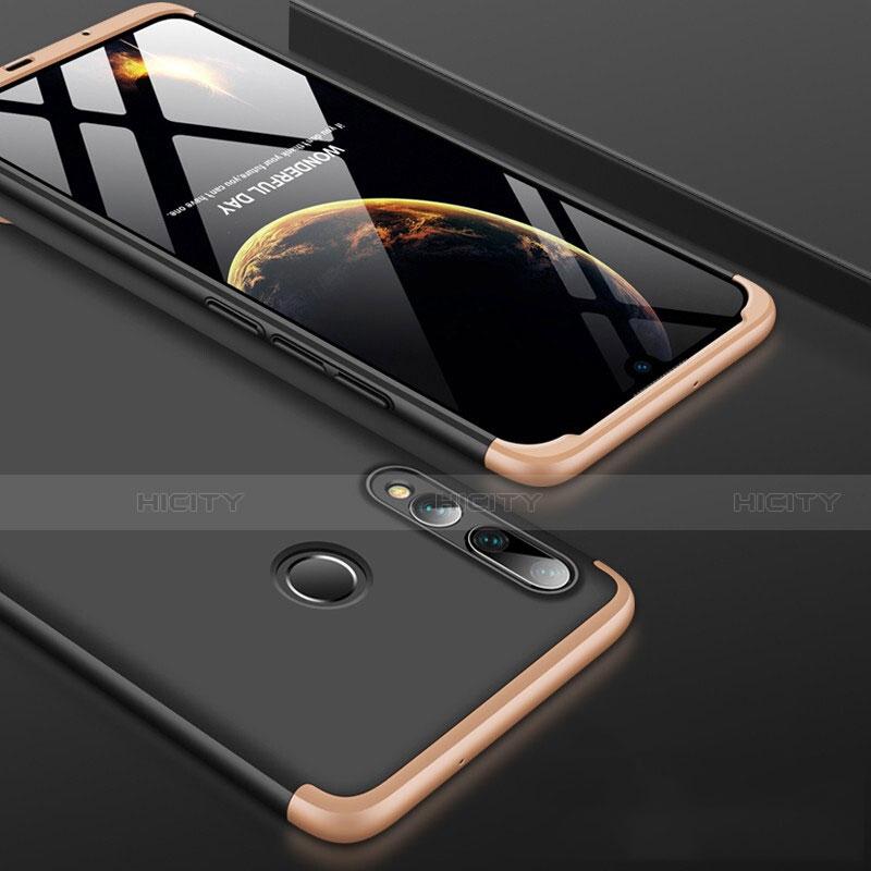 Custodia Plastica Rigida Cover Opaca Fronte e Retro 360 Gradi per Huawei Honor 20 Lite Oro e Nero