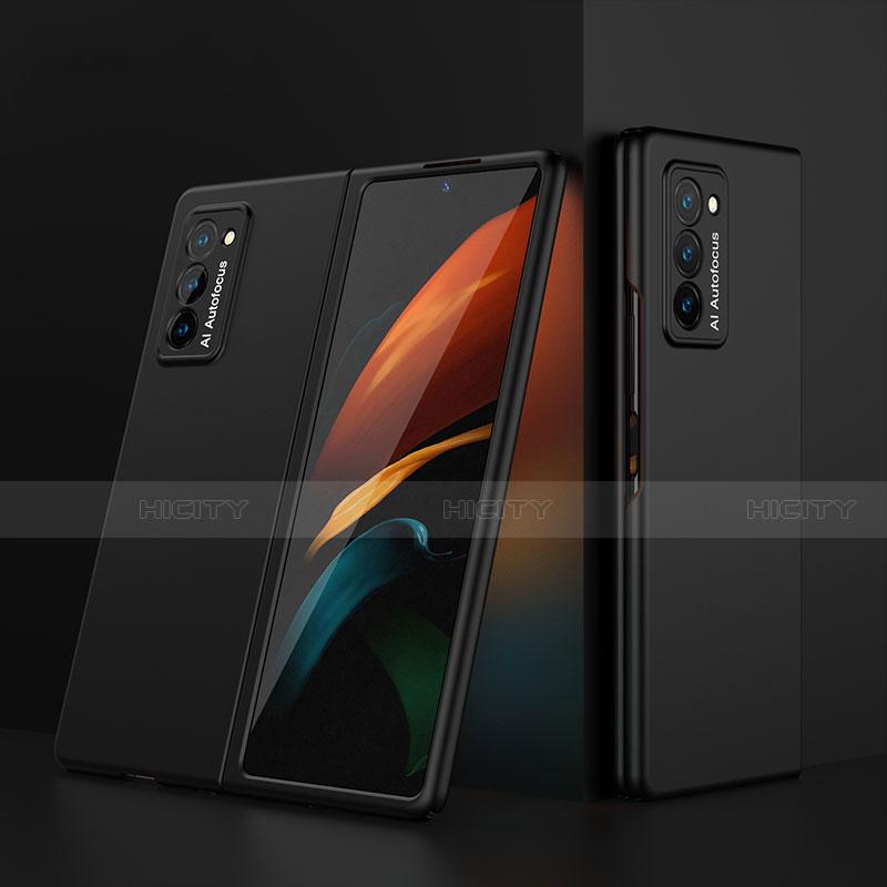 Custodia Plastica Rigida Cover Opaca Fronte e Retro 360 Gradi per Samsung Galaxy Z Fold2 5G Nero