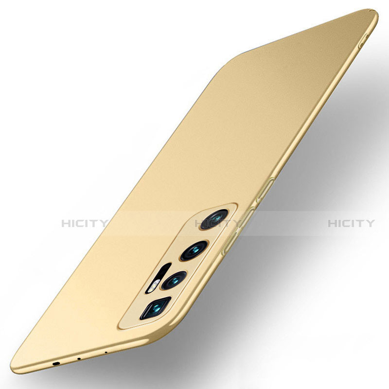 Custodia Plastica Rigida Cover Opaca M01 per Xiaomi Mi 10 Ultra Oro