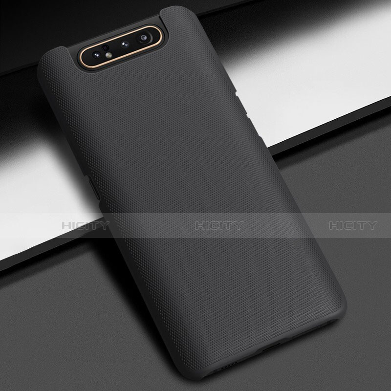 Custodia Plastica Rigida Cover Opaca M02 per Samsung Galaxy A80 Nero