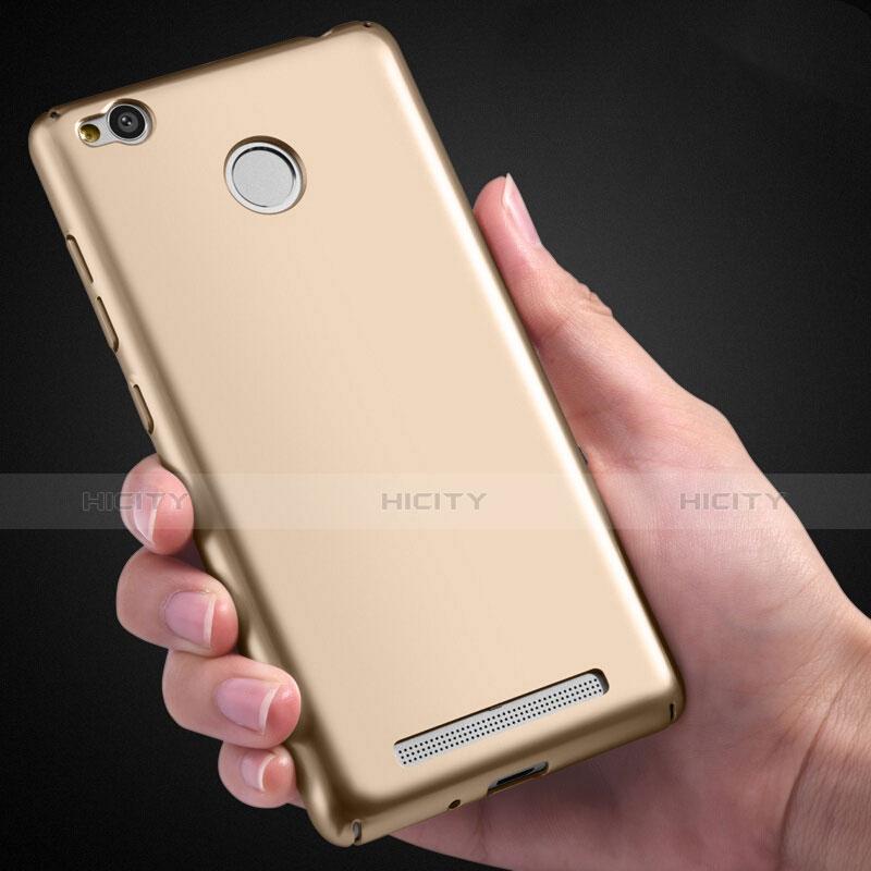 Custodia Plastica Rigida Opaca per Xiaomi Redmi 3 Pro Oro