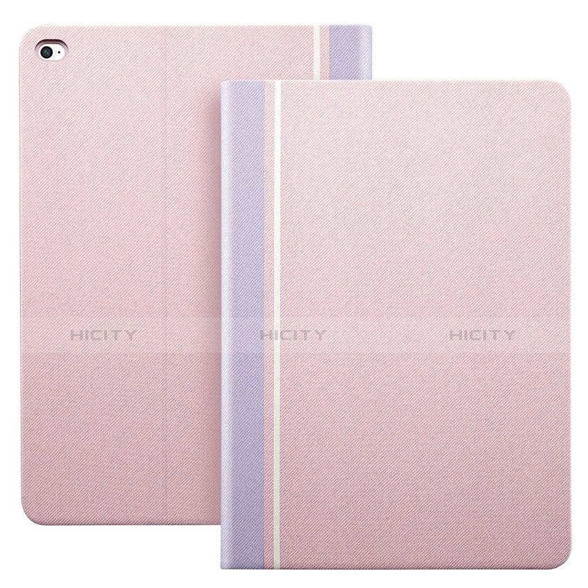 Custodia Portafoglio In Pelle con Stand L03 per Apple iPad Mini 4 Rosa