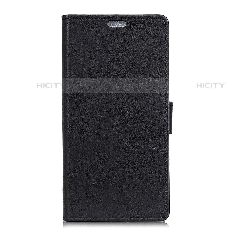 Custodia Portafoglio In Pelle Cover con Supporto L02 per Asus ZenFone V500KL Nero