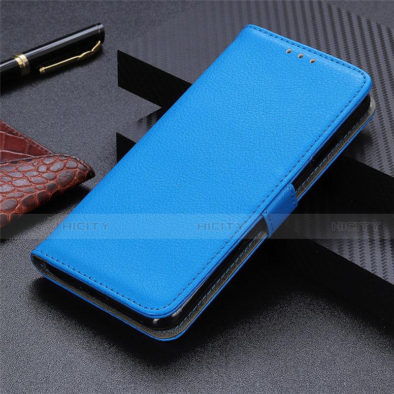 Custodia Portafoglio In Pelle Cover con Supporto L03 per Motorola Moto G9 Plus Cielo Blu