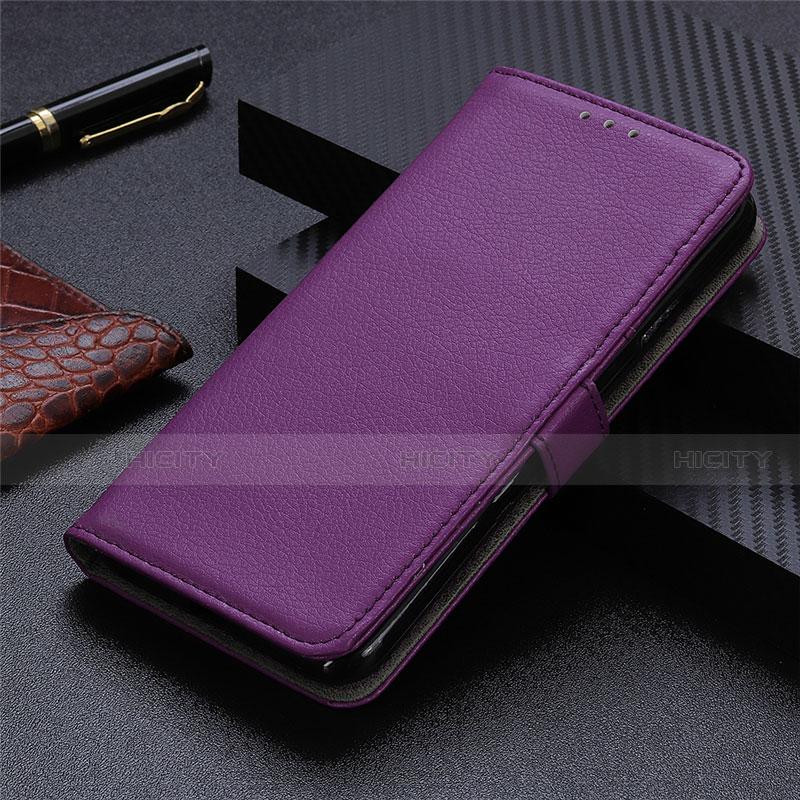 Custodia Portafoglio In Pelle Cover con Supporto L03 per Motorola Moto G9 Plus Viola