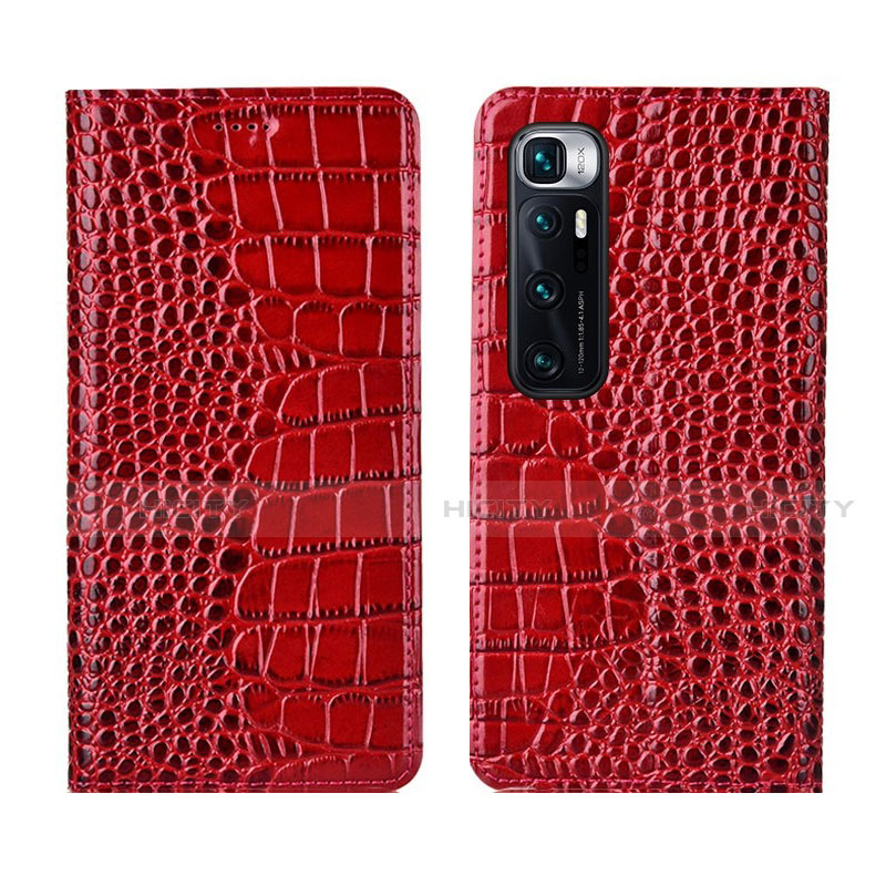 Custodia Portafoglio In Pelle Cover con Supporto L04 per Xiaomi Mi 10 Ultra Rosso