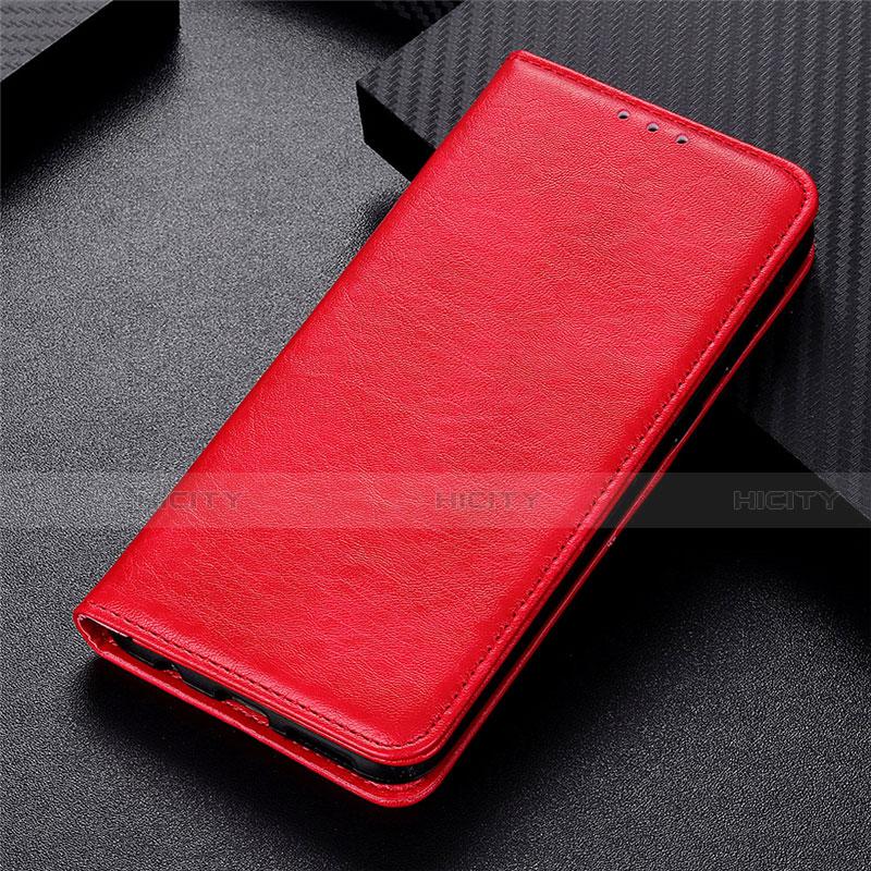 Custodia Portafoglio In Pelle Cover con Supporto L05 per Motorola Moto G9 Plus Rosso