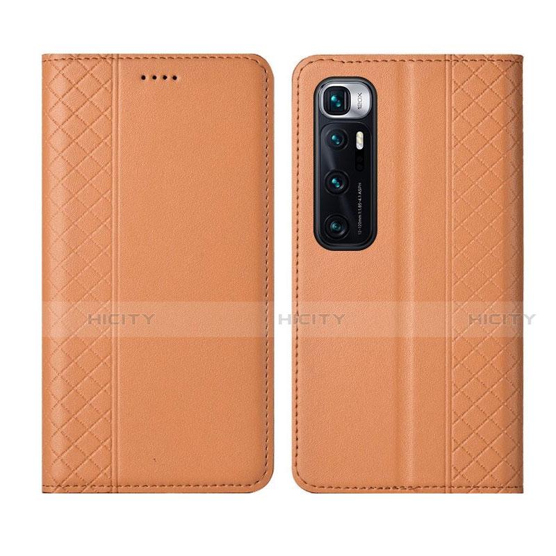 Custodia Portafoglio In Pelle Cover con Supporto L05 per Xiaomi Mi 10 Ultra Arancione