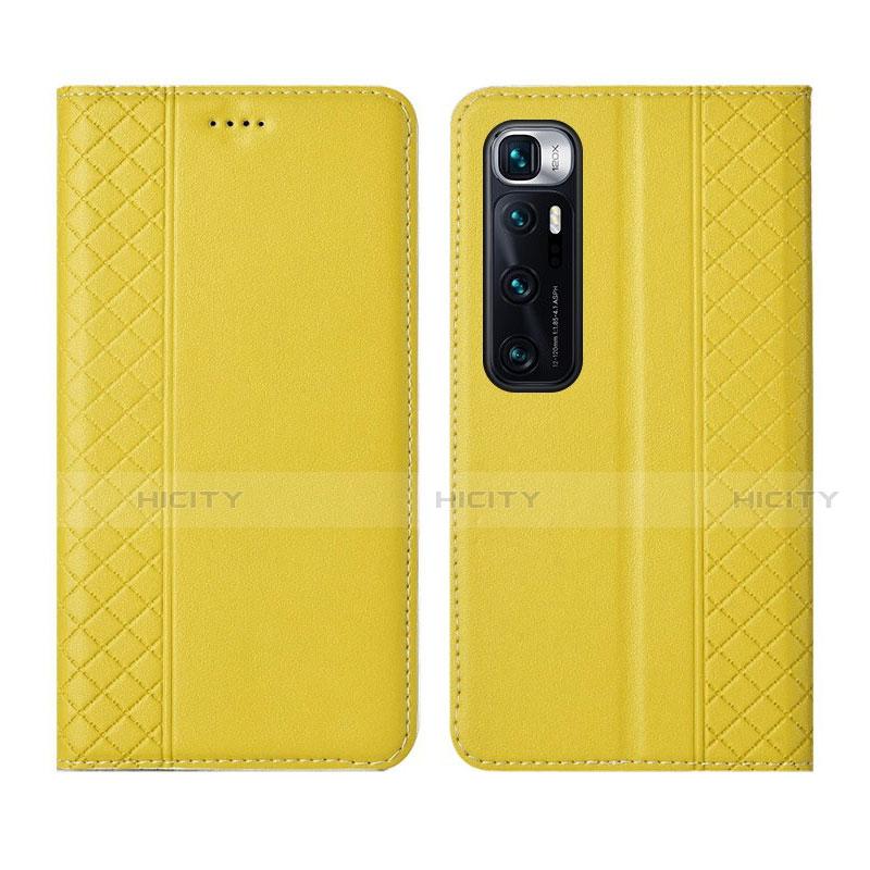 Custodia Portafoglio In Pelle Cover con Supporto L05 per Xiaomi Mi 10 Ultra Giallo