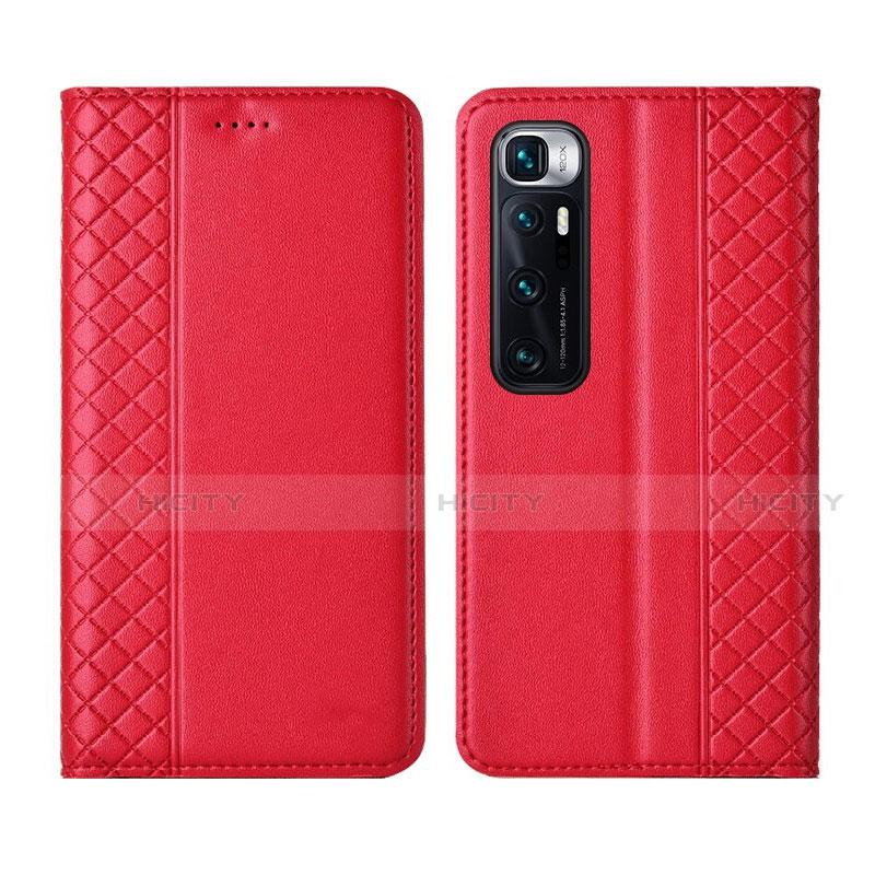Custodia Portafoglio In Pelle Cover con Supporto L05 per Xiaomi Mi 10 Ultra Rosso