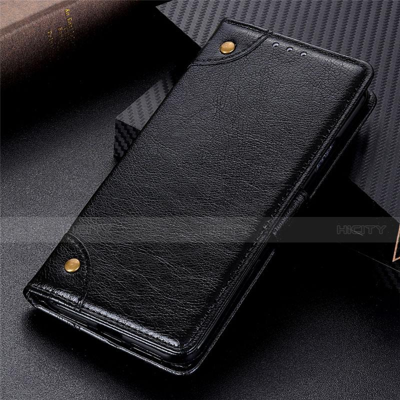 Custodia Portafoglio In Pelle Cover con Supporto L06 per Motorola Moto G9 Plus Nero