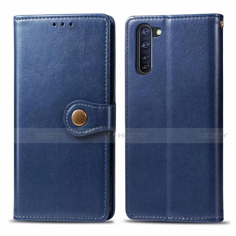 Custodia Portafoglio In Pelle Cover con Supporto L06 per Oppo Reno3 A Blu