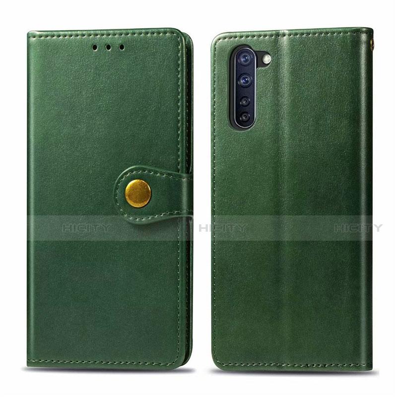 Custodia Portafoglio In Pelle Cover con Supporto L06 per Oppo Reno3 A Verde