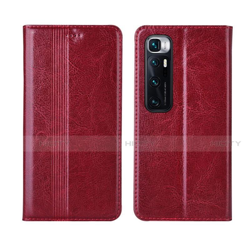 Custodia Portafoglio In Pelle Cover con Supporto L06 per Xiaomi Mi 10 Ultra Rosso