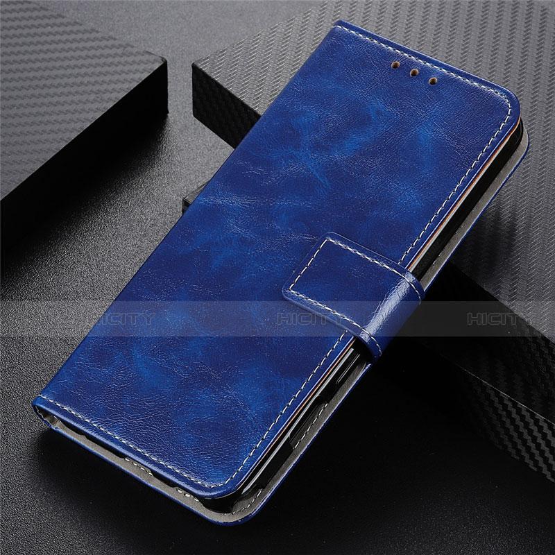 Custodia Portafoglio In Pelle Cover con Supporto L07 per Motorola Moto G9 Plus Blu