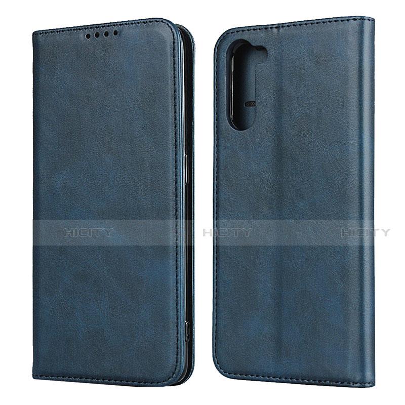 Custodia Portafoglio In Pelle Cover con Supporto L08 per Oppo Reno3 A Blu