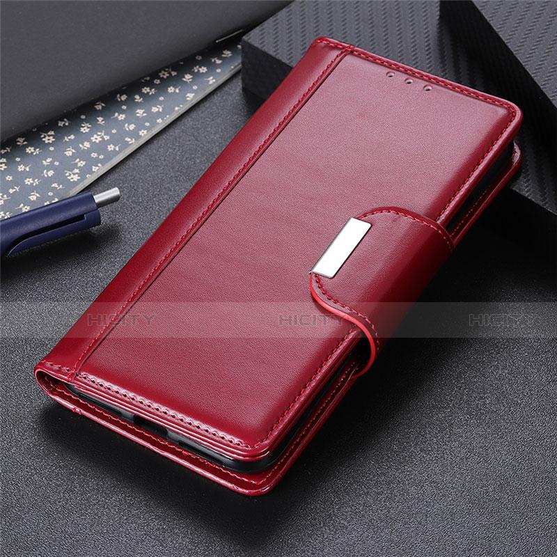 Custodia Portafoglio In Pelle Cover con Supporto L10 per Oppo Reno3 A Rosso Rosa