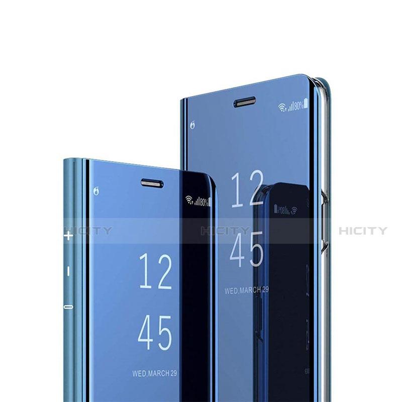 Custodia Portafoglio In Pelle Cover con Supporto Laterale Specchio Cover L02 per Xiaomi Mi 10 Ultra Blu