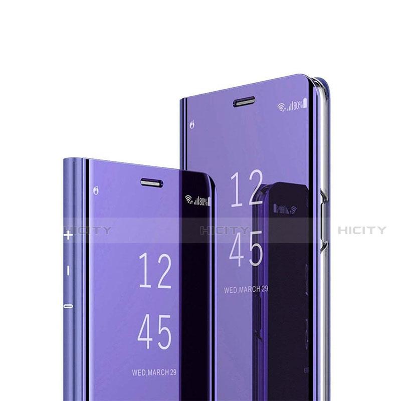 Custodia Portafoglio In Pelle Cover con Supporto Laterale Specchio Cover L02 per Xiaomi Mi 10 Ultra Viola