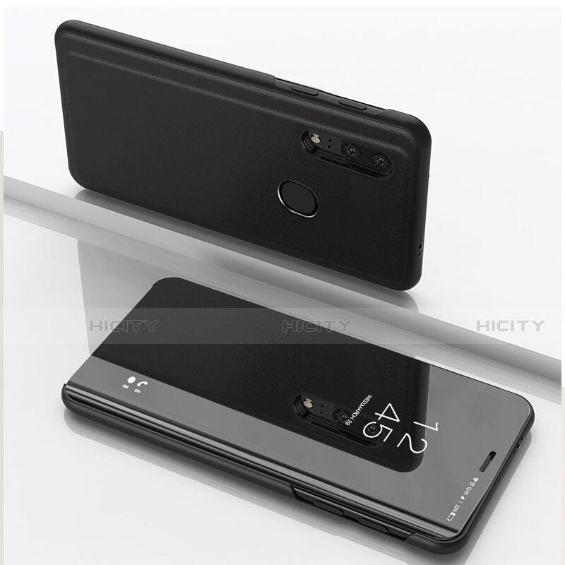 Custodia Portafoglio In Pelle Cover con Supporto Laterale Specchio Cover per Huawei Honor 20 Lite Nero