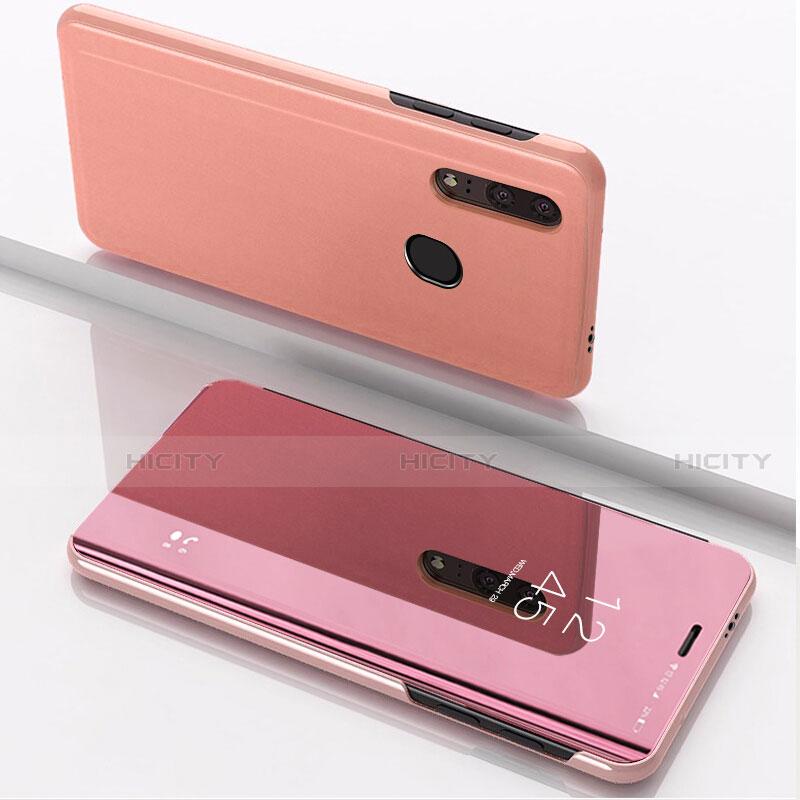 Custodia Portafoglio In Pelle Cover con Supporto Laterale Specchio Cover per Huawei Honor 20 Lite Oro Rosa
